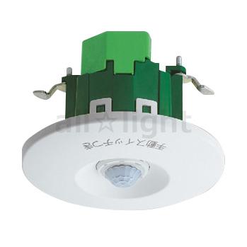 ☆パナソニック 天井取付熱線センサ付自動スイッチ 広角検知形 8Aタイプ 親器 明るさセンサ付 天井穴あけ寸法φ70mm 8A 100V AC ホワイト WTK24818