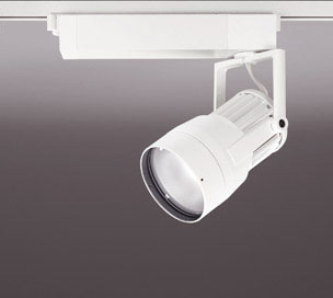 ☆ODELIC LEDスポットライト 高効率タイプ 配線ダクトレール用 CDM-T150W相当 オフホワイト 14° 44VA 電球色 3000K 調光非対応 XS411105