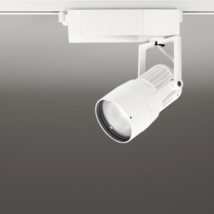 ☆ODELIC LEDスポットライト 高効率タイプ 配線ダクトレール用 CDM-T35W相当 オフホワイト 22° 37VA 昼白色 5000K 調光非対応 XS412182