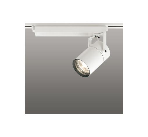 ☆ODELIC LEDスポットライト 配線ダクトレール用 CDM-T70W相当 オフホワイト 23° 電球色 3000K  専用調光リモコン対応(リモコン別売) XS511111BC