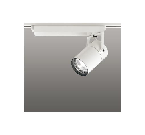 ☆ODELIC LEDスポットライト 配線ダクトレール用 CDM-T70W相当 オフホワイト 61° 温白色 3500K  専用調光リモコン対応(リモコン別売) XS511121BC