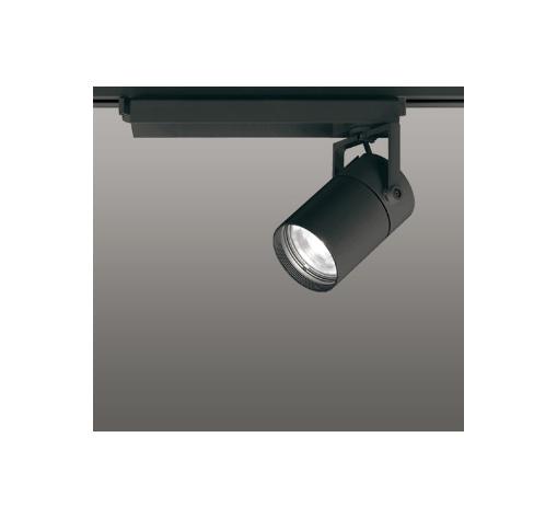 ☆ODELIC LEDスポットライト 配線ダクトレール用 CDM-T70W相当 ブラック 61° 温白色 3500K  専用調光リモコン対応(リモコン別売) XS511122BC
