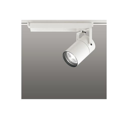 ☆ODELIC LEDスポットライト 配線ダクトレール用 CDM-T70W相当 オフホワイト スプレッド 温白色 3500K  専用調光リモコン対応(リモコン別売) XS511127BC