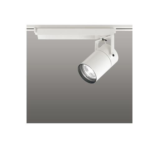 ☆ODELIC LEDスポットライト 高彩色タイプ 配線ダクトレール用 CDM-T70W相当 オフホワイト スプレッド 温白色 3500K  専用調光リモコン対応(リモコン別売) XS511127HBC