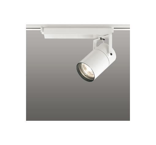 ☆ODELIC LEDスポットライト 配線ダクトレール用 CDM-T70W相当 オフホワイト スプレッド 電球色 3000K  調光非対応 XS511129