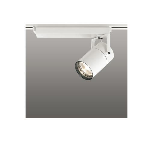 ☆ODELIC LEDスポットライト 配線ダクトレール用 CDM-T70W相当 オフホワイト スプレッド 電球色 3000K  専用調光リモコン対応(リモコン別売) XS511129BC