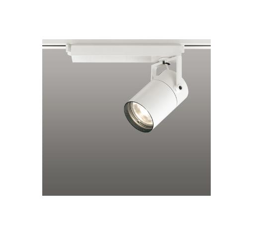 ☆ODELIC LEDスポットライト 高彩色タイプ 配線ダクトレール用 CDM-T70W相当 オフホワイト スプレッド 電球色 3000K  調光非対応 XS511129H