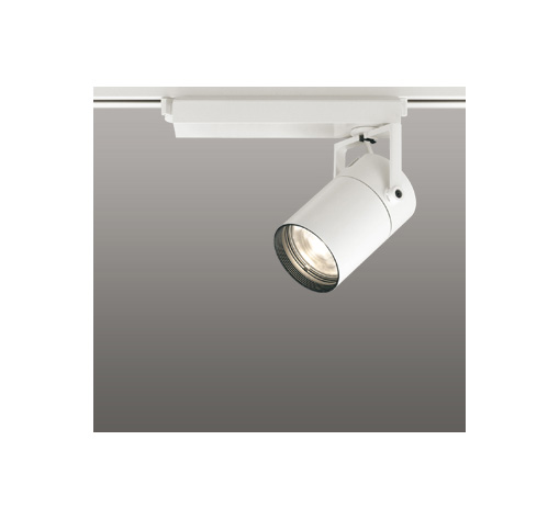 ☆ODELIC LEDスポットライト 配線ダクトレール用 CDM-T35W相当 オフホワイト 62° 電球色 3000K  専用調光リモコン対応(リモコン別売) XS512129BC