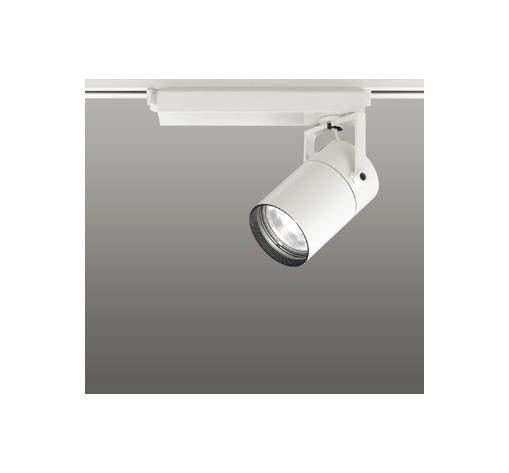 ☆ODELIC LEDスポットライト 高彩色タイプ 配線ダクトレール用 CDM-T35W相当 オフホワイト スプレッド 温白色 3500K  専用調光リモコン対応(リモコン別売) XS512135HBC