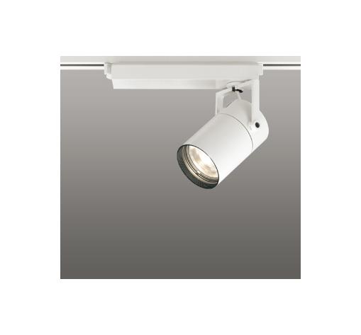 ☆ODELIC LEDスポットライト 配線ダクトレール用 CDM-T35W相当 オフホワイト スプレッド 電球色 3000K  専用調光リモコン対応(リモコン別売) XS512137BC