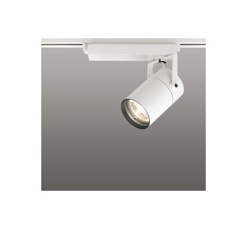 ☆ODELIC LEDスポットライト 配線ダクトレール用 CDM-T35W相当 オフホワイト スプレッド 電球色 3000K  専用調光器対応 XS512137C