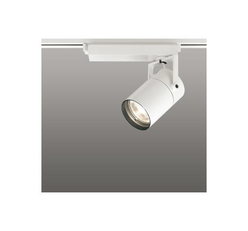 ☆ODELIC LEDスポットライト 高彩色タイプ 配線ダクトレール用 CDM-T35W相当 オフホワイト スプレッド 電球色 3000K  調光非対応 XS512137H