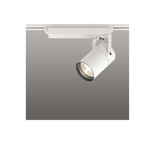 ☆ODELIC LEDスポットライト 配線ダクトレール用 CDM-T35W相当 オフホワイト スプレッド 電球色 2700K  専用調光リモコン対応(リモコン別売) XS512139HBC