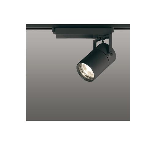 ☆ODELIC LEDスポットライト 配線ダクトレール用 CDM-T35W相当 ブラック スプレッド 電球色 2700K  調光非対応 XS512140H