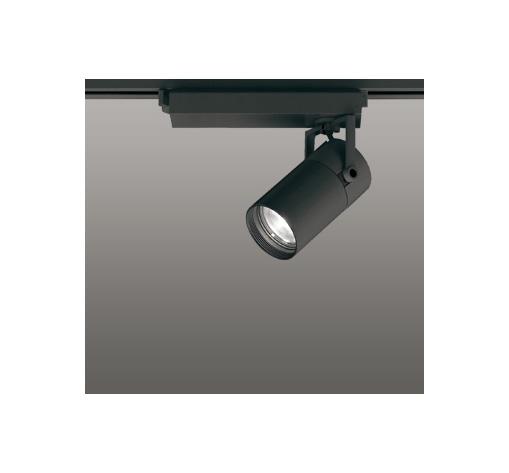☆ODELIC LEDスポットライト 高彩色タイプ 配線ダクトレール用 CDM-T35W相当 ブラック 45° 温白色 3500K  専用調光器対応 XS513128HC
