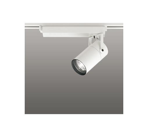 ☆ODELIC LEDスポットライト 配線ダクトレール用 CDM-T35W相当 オフホワイト スプレッド 温白色 3500K  専用調光リモコン対応(リモコン別売) XS513135BC