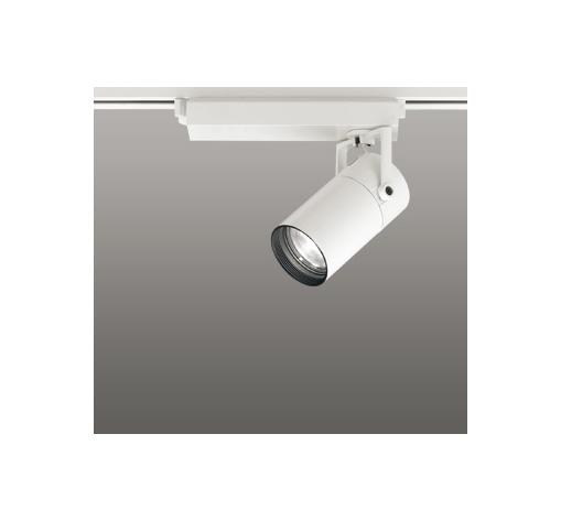 ☆ODELIC LEDスポットライト 高彩色タイプ 配線ダクトレール用 CDM-T35W相当 オフホワイト スプレッド 温白色 3500K  調光非対応 XS513135H