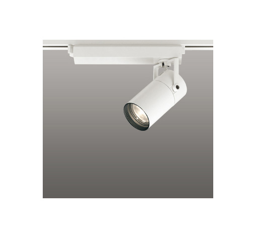 ☆ODELIC LEDスポットライト 配線ダクトレール用 CDM-T35W相当 オフホワイト スプレッド 電球色 3000K  専用調光リモコン対応(リモコン別売) XS513137BC