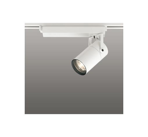 ☆ODELIC LEDスポットライト 高彩色タイプ 配線ダクトレール用 CDM-T35W相当 オフホワイト スプレッド 電球色 3000K  専用調光リモコン対応(リモコン別売) XS513137HBC