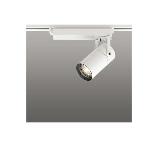 ☆ODELIC LEDスポットライト 配線ダクトレール用 CDM-T35W相当 オフホワイト スプレッド 電球色 2700K  調光非対応 XS513139H