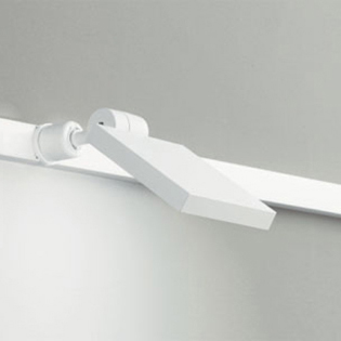 ☆ODELIC 配線ダクトレール用 LEDスポットライト LED一体型 白熱灯60W相当 昼白色 壁面取付可能型 100V OS256033
