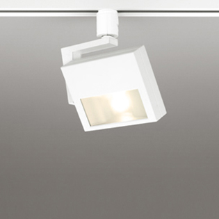 ☆ODELIC 配線ダクトレール用 LEDスポットライト LED一体型 白熱灯120W相当 電球色 壁面取付可能型 100V OS256298