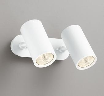 ☆ODELIC LEDスポットライト 直付け用(フレンジタイプ) LED一体型 白熱灯100W×2灯相当 専用調光器対応 電球色 ワイド配光 100V OS256438
