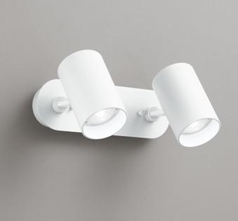 ☆ODELIC LEDスポットライト 直付け用(フレンジタイプ) LED電球ミニクリプトンレフ形 昼白色 E17口金(ランプ付) 白熱灯60W相当×2灯 ワイド配光 非調光 100V OS256501ND