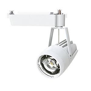 ☆OKAMURA 配線ダクトレール用 LEDスポットライト エコ之助スーパー鮮度クン LED24W 温白色(3500K) ミディアム配光(Mレンズ) 遮光タイプ 高演色・高彩度 本体色:白 OECD3SRHN20(Mレンズ)