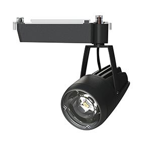 ☆OKAMURA 配線ダクトレール用 LEDスポットライト エコ之助スーパー鮮度クン LED24W 温白色(3500K) ミディアム配光(Mレンズ) 遮光タイプ 高演色・高彩度 本体色:黒 OECD4SRHN20(Mレンズ)