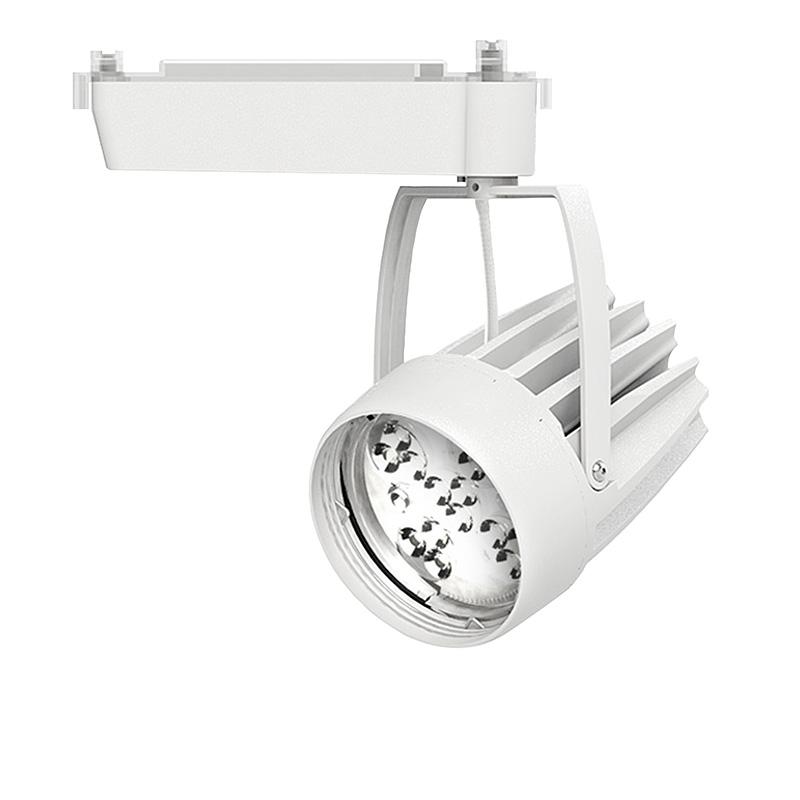 ☆OKAMURA 配線ダクトレール用 LEDスポットライト エコ之助スーパーマルチャン LED52W 光色調整型 ミディアム配光(Mレンズ) 高演色 本体色:白 OEMD3SHN50(Mレンズ)
