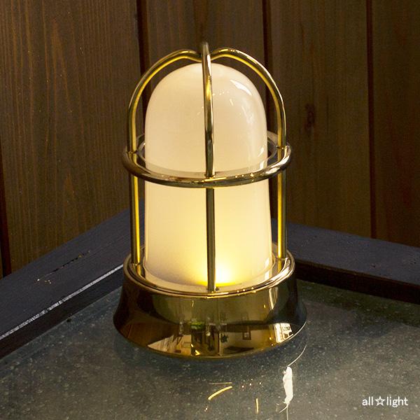 ☆ゴーリキアイランド LEDスタンドライト(ランタン) 屋内用 単4電池2個使用 真鍮磨き仕上げ(ゴールド) BH1000MINI FR BLE