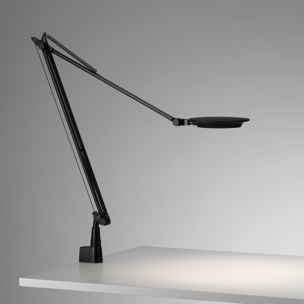 ☆yamagiwa LEDタスクライト(デスクスタンド) Rebio(レビオ) クランプタイプ 3000K 高演色タイプ 本体色ブラック 3段階調光 LED一体形 555REBIOBK