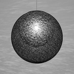 ☆yamagiwa MAYUHANA MA BLACK ペンダントライト E26口金 クリアボールランプ φ95 100W×1灯用 (ランプ付) 引掛シーリング 321P2910B