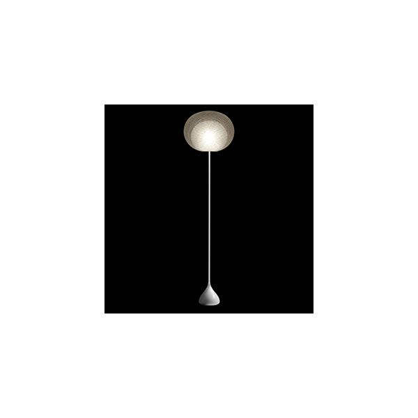 ☆yamagiwa MAYUHANA フロアスタンド E26口金 ホワイトボールランプ φ95 60W×1灯用 (ランプ付) フットスイッチ付 321S7404W