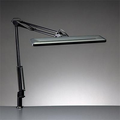 ☆yamada LEDデスクスタンド Zライト LED一体型 白熱灯80W相当 クランプ式 無段階調光 昼白色 本体色ブラック Z1000B