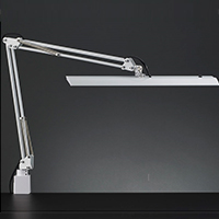 ☆yamada LEDデスクスタンド Zライト 白熱灯150W相当 クランプ式 LED一体型 昼白色 連続調光 本体色:ホワイト Z10NW