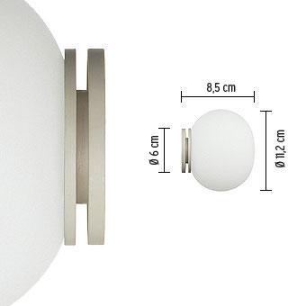☆FLOS ブラケット ミニ グローボール C/W ハロピン 25W フロスト 110V G9 ランプ付 Mini Glo-Ball C/W