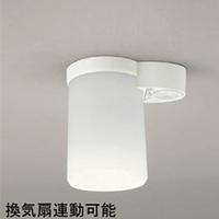 ☆ODELIC LED小型シーリングライト 人感センサON-OFF型 換気扇連動可能型 トイレ用 白熱灯60W相当 LEDランプ付 E26口金 電球色 OL011258LD