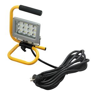 ☆ジェフコム 投光器型作業灯 LED投光器 スタンド型 12Wタイプ 完全防雨・防湿・防塵 屋外用(IP65) 760lm 白熱電球60W相当 昼光色 PDS0112S