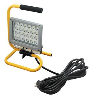 ☆ジェフコム 投光器型作業灯 LED投光器 スタンド型 24Wタイプ 完全防雨・防湿・防塵 屋外用(IP65) 1540lm 白熱電球100W相当 昼光色 PDS0124S