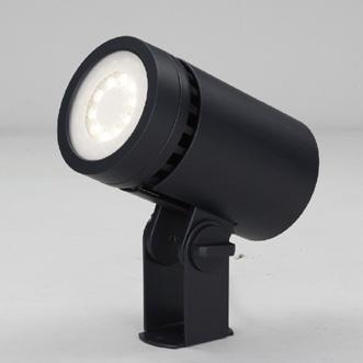 ☆東芝 屋外用LED小形丸形投光器 電球色 中角タイプ 130Wハロゲン器具相当 電源ユニット一体形 グレーイッシュブラック LEDS01801LMLS9