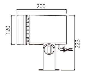 グレーイッシュブラック 屋外用LED小形丸形投光器 LEDS01801NMLS9 電源ユニット一体形 昼白色 ※受注生産品 ☆東芝 中角タイプ 130Wハロゲン器具相当