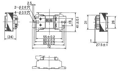 ☆ 도시바 스타터 형 형광 램프 용 안정기 FL10 1 램프 100V 솔더 리스 터미널 (SL 단자)를 갖춘 FBC10144R
