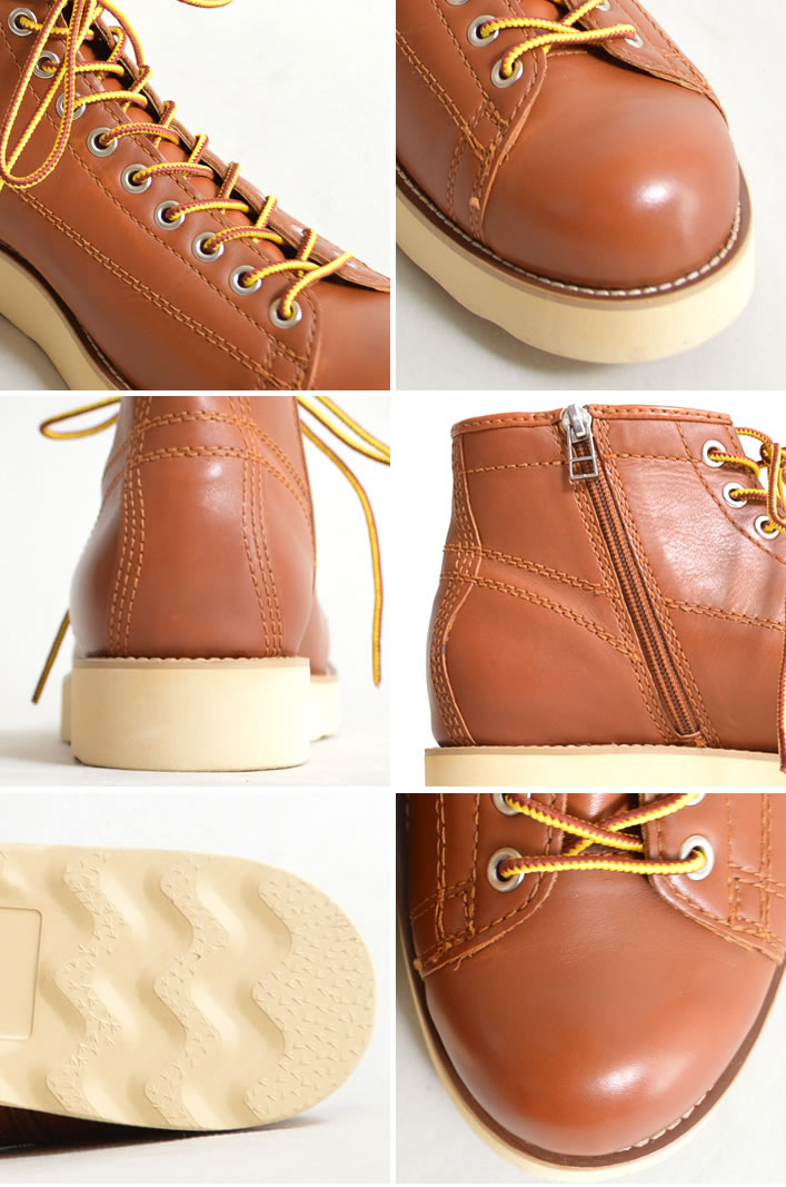 Leather leather monkey boots smooth lace-up men's side dip shoes shoes