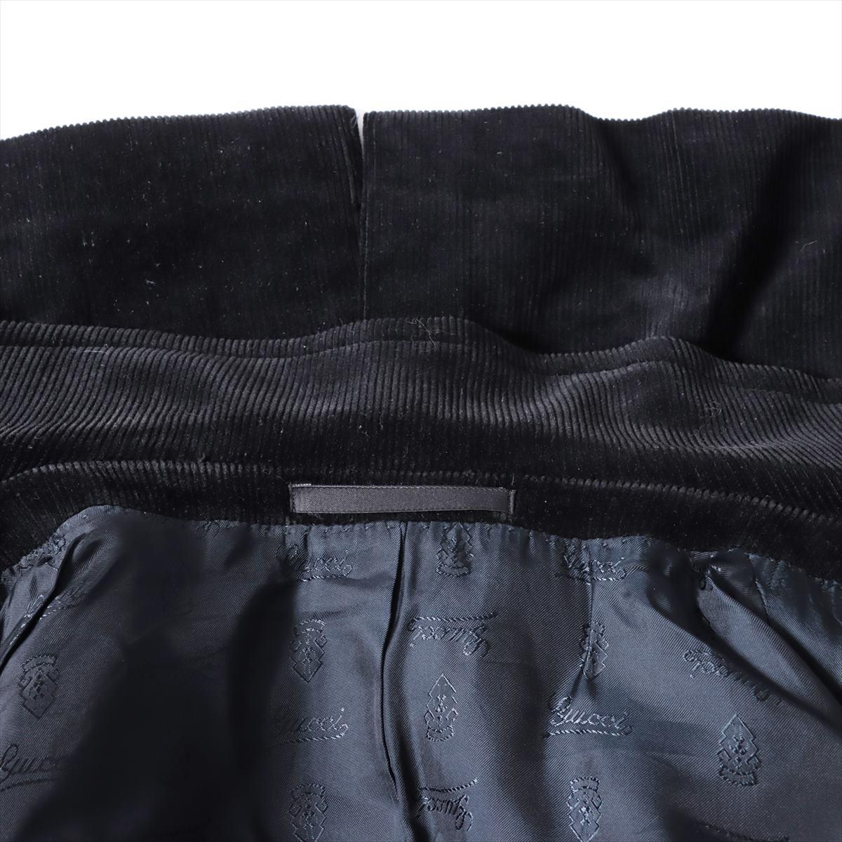 【中古】グッチ コーデュロイ ジャケット 44 メンズ ブラック