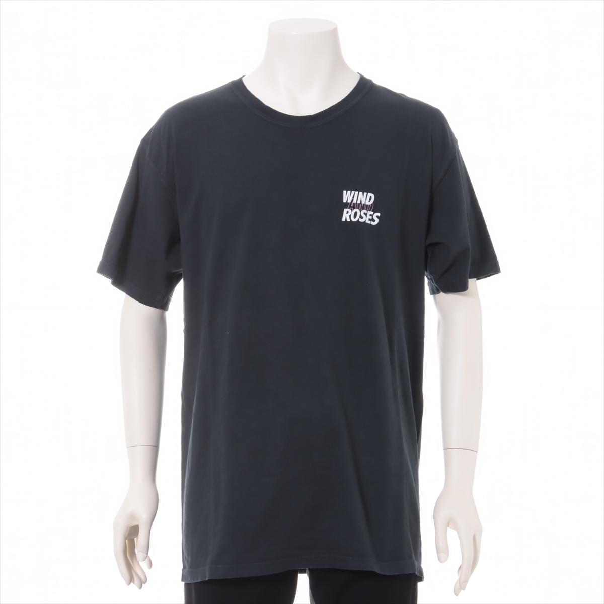 中古 超激安特価 ウィンダンシー×ヴィオラ ローゼス コットン ブラック L Tシャツ 日本限定 メンズ