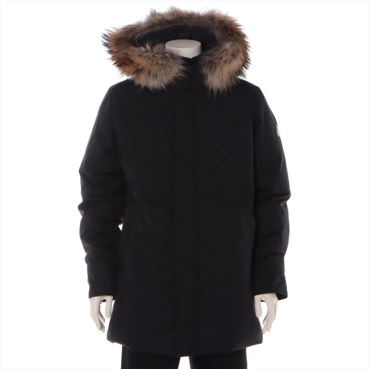 中古 ピレネックス ポリエステル ダウンジャケット L セール価格 FUR セール特価品 メンズ ブラック ANNECY