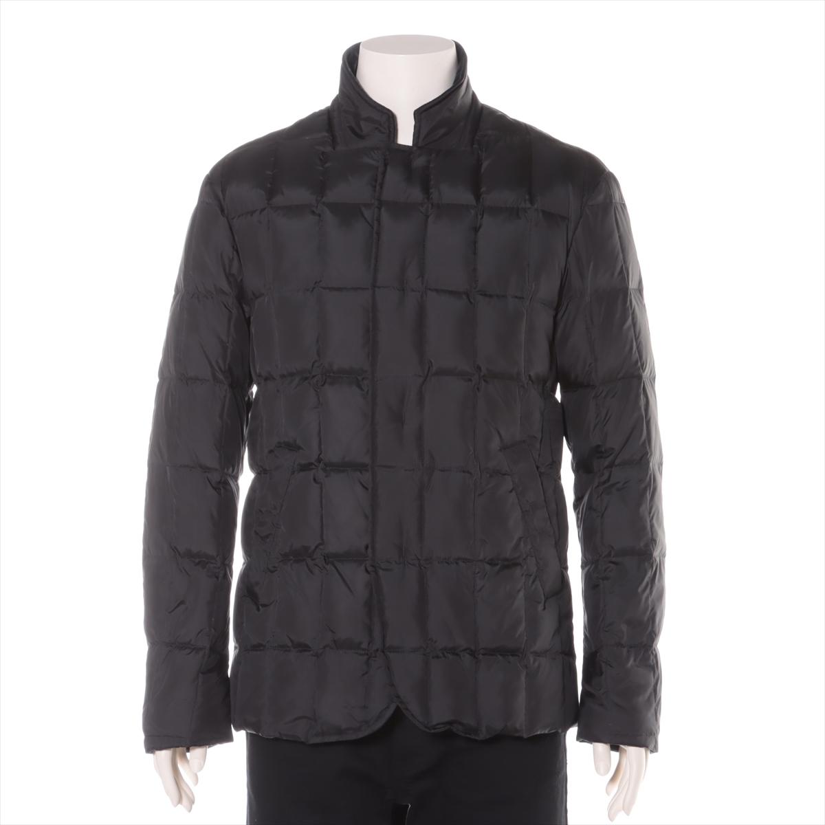 贈呈 中古 アルマーニコレッツォーニ ポリエステル ダウンジャケット ブラック <セール&特集> 48 メンズ