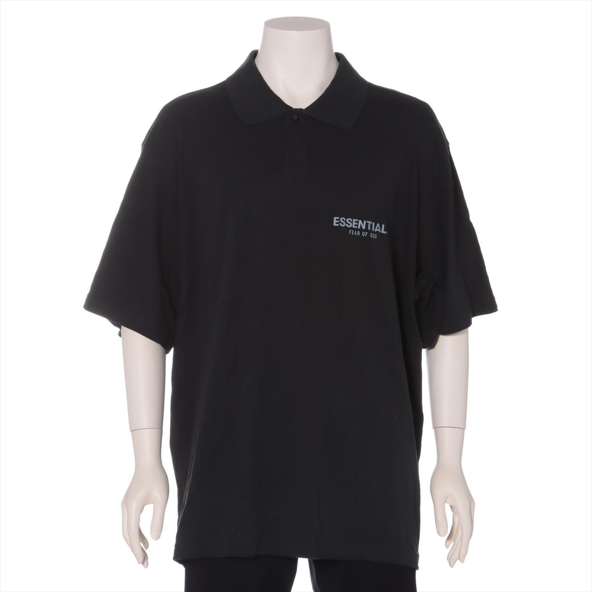 セットアップ 中古 大幅値下げランキング フィアオブゴッド エッセンシャルズ コットン ポロシャツ L ブラック メンズ